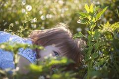 Summer little girl Stock Photo