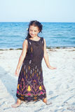Summer little girl outdoor portrait, Stock Images