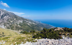 Summer  Llogara pass (Albania) Royalty Free Stock Photo