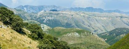 Summer  Llogara pass (Albania) panorama. Royalty Free Stock Image