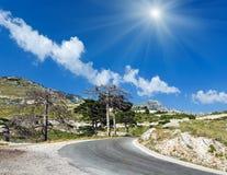 Summer Llogara pass Albania Royalty Free Stock Photo