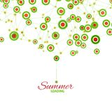 Summer loading graphics Royalty Free Stock Photography