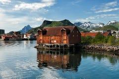 Summer in Lofoten stock image