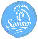 Summer logo Royalty Free Stock Photos