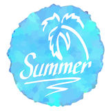 Summer logo Royalty Free Stock Image