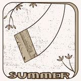 Summer logo. Royalty Free Stock Photo