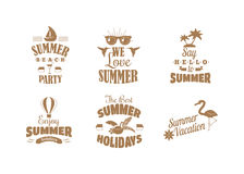Summer logo vector illustration. Summer badge logo isolated on white background. Summer sale logo vector icon illustration silhouette Stock Photos