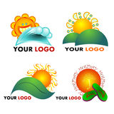 Summer Logos. Collection of summer logos and icons Vector Illustration