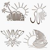 Summer logotypes set. Stock Image