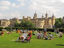 Summer at London Tower Royalty Free Stock Photo