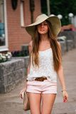 Summer look of young woman Royalty Free Stock Image