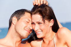 Summer love. Couple on the beach Stock Image