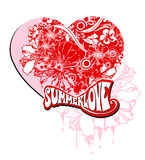 Summer love. A illustration of graphic design for love subject Royalty Free Stock Photos