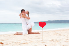 Summer Love on beach Stock Photos