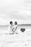 Summer Love on beach Stock Image