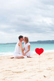 Summer Love on beach royalty free stock photography