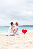 Summer Love on beach Royalty Free Stock Photos