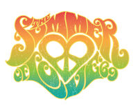 Summer of Love. 60's style typography image royalty free illustration