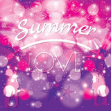Summer love vibrant colorful Royalty Free Stock Photo