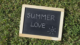Summer love written Royalty Free Stock Photos