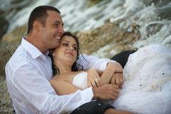 Summer lovers (couple portrait) Royalty Free Stock Image