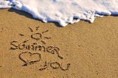 Summer loves you Royalty Free Stock Photos
