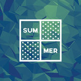 Summer low poly background. Underwater colors polygonal vector wallpaper. Stock Photography