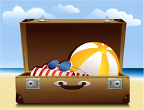 Summer luggage Royalty Free Stock Images