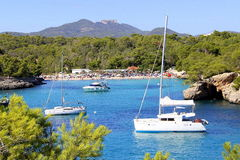 Summer in Majorca. View on one of the most beautiful beaches on Majorca stock photos