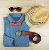 Summer male clothing Stock Photo