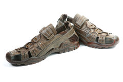 Summer man's sandals Royalty Free Stock Image