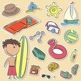 Summer man's vacation Stock Image