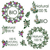 Summer Mandala. Sticker for natural products and natural ingredi Stock Photography