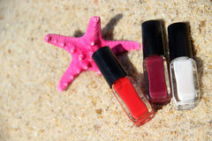 Summer manicure Royalty Free Stock Images