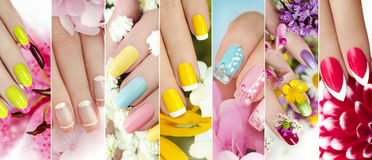 Summer manicure. Royalty Free Stock Photo