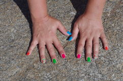 Summer manicure. Stock Photography