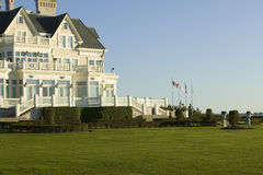 Summer mansion on the Cliff Walk, Cliffside Mansions of Newport Rhode Island Stock Photography