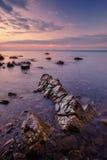 Summer. Marine rocky landscape at sunset Stock Photo