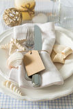 Summer marine style table setting. Copy space Stock Photo