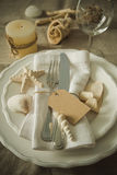 Summer marine style table setting Royalty Free Stock Photo