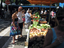 Summer Market in Tossa De Mar Costa Brava Spain Royalty Free Stock Photography