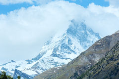 Summer Matterhorn mountain (Alps) Stock Photo