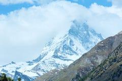 Summer Matterhorn mountain (Alps) Stock Photo
