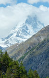 Summer Matterhorn mountain (Alps) Stock Images