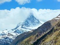 Summer Matterhorn mountain (Alps) Stock Image