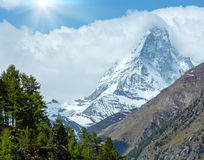 Summer Matterhorn mountain (Alps) Stock Photos