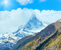 Summer Matterhorn mountain (Alps) Royalty Free Stock Images