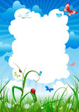 Summer meadow background vector illustration