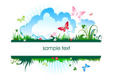 Summer meadow banner Royalty Free Stock Photo