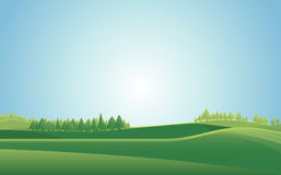 Summer meadow landscape  background. Vector illustration. Innovation Royalty Free Stock Photo